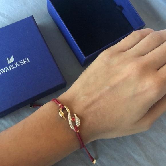Swarovski Jewelry - BRAND NEW adjustable Swarvoski red swan bracelet